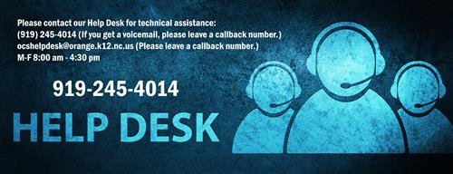 Banner for IT help desk with phone number and availability