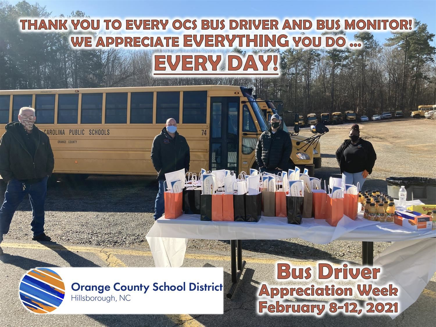Thank you to bus drivers for Bus Driver Appreciation Week 2021