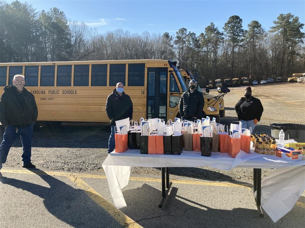 Photo from the Bus Driver Appreciation Drive-thru Breakfast celebration