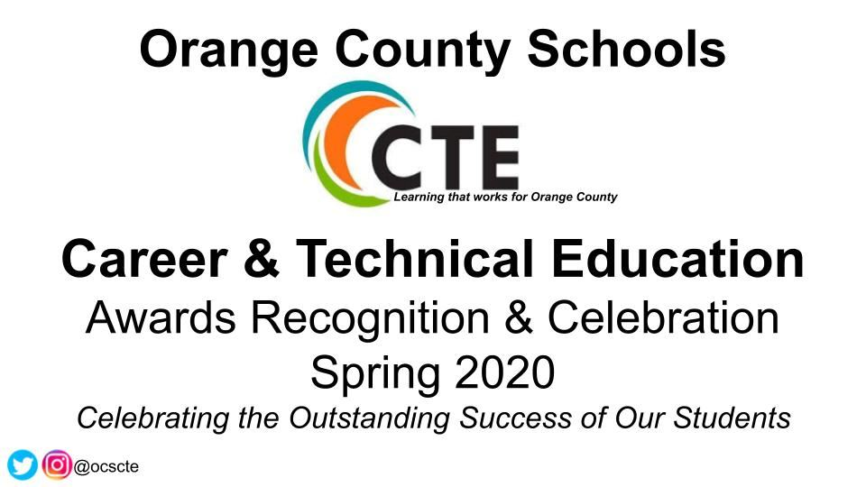 CTE Spring Awards Ceremony goes virtual