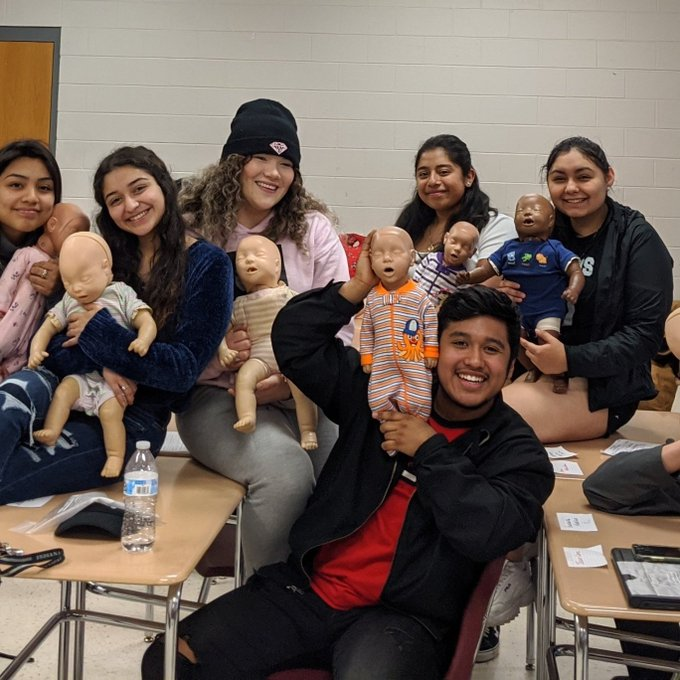 Cedar Ridge Nursing Fundamentals students certify in Infant CPR