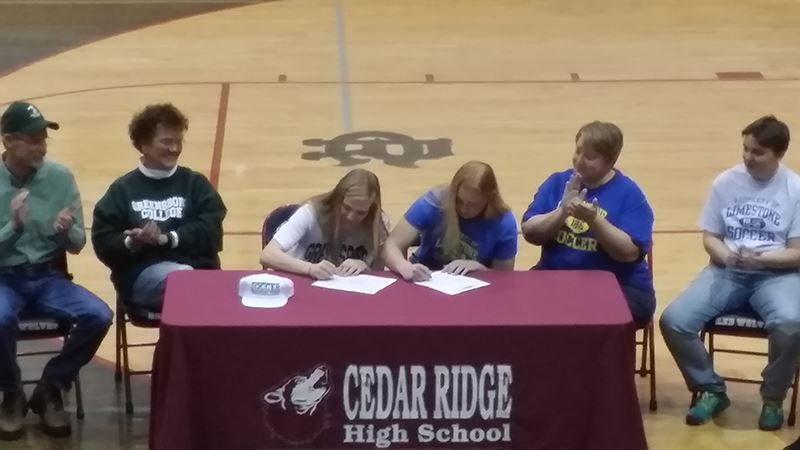 CRHS Students Sign with Greensboro College and Limestone College
